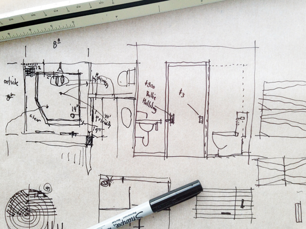 talking and sketching