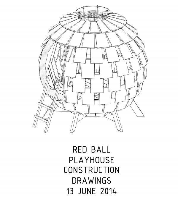 Red Ball construction drawings  by Levente Skulteti