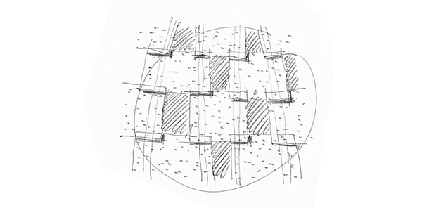 Red Ball Playhouse tile sketch by Levente Skulteti