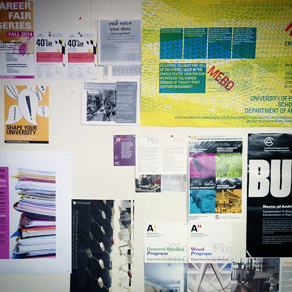 University of Maryland School of Architecture posters