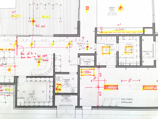 Superb corrected architectural redlines
