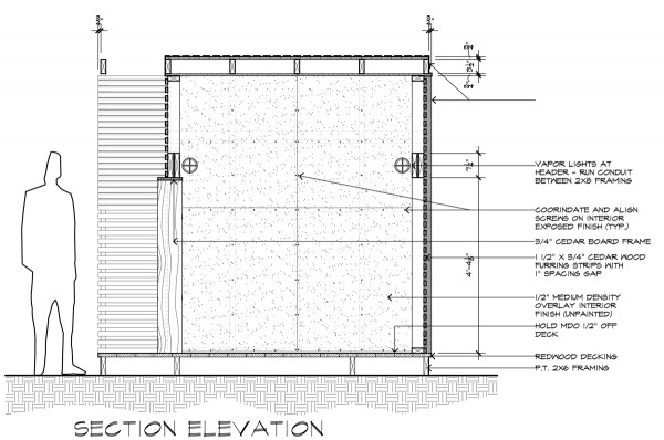 Lantern House Section Elevation