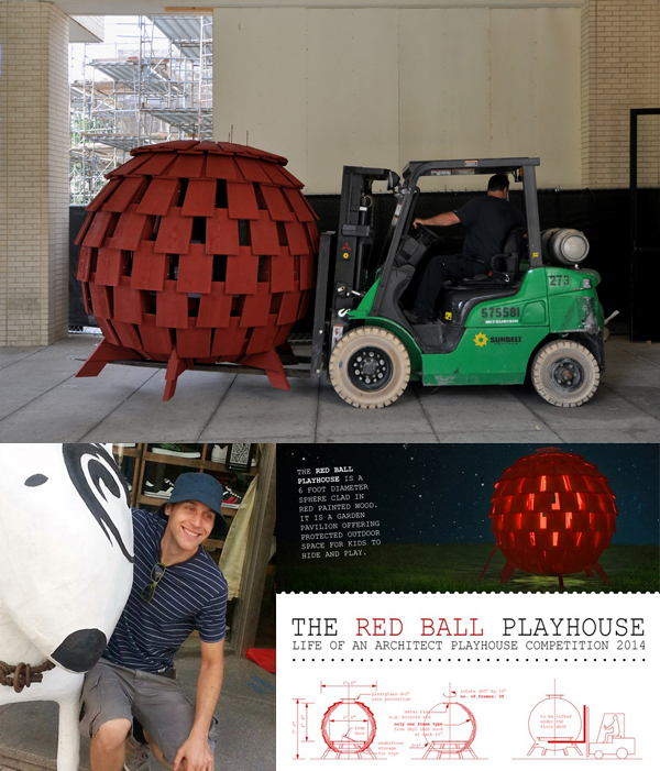 The Red Ball Playhouse by Levente Skulteti