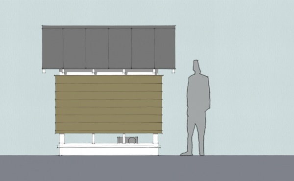 Outdoor Movie Theater Side Elevation Final