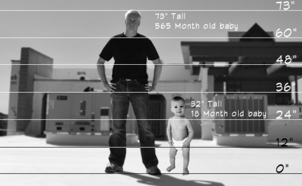 How tall are babies - architectural scale figures