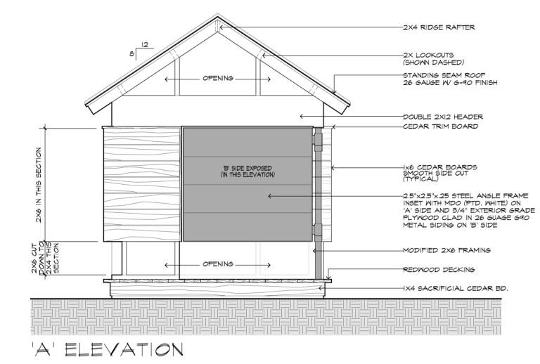 Movie Theater Playhouse CD's A Elevation by Dallas Architect Bob Borson
