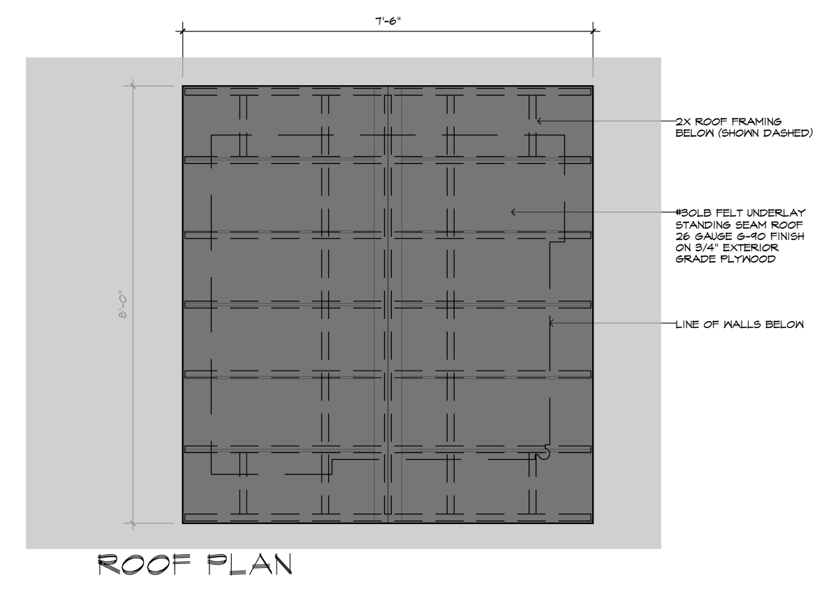 Movie Theater Playhouse CD's Roof Plan