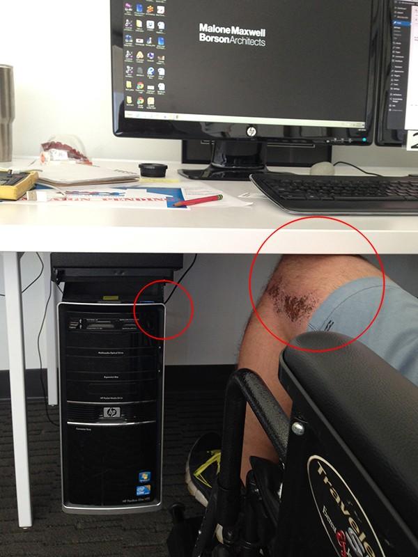 I don't fit under the desktop