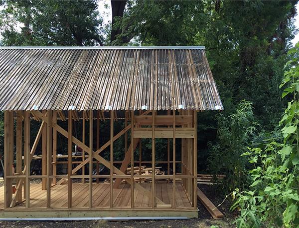 Dain Playhouse Side Elevation construction