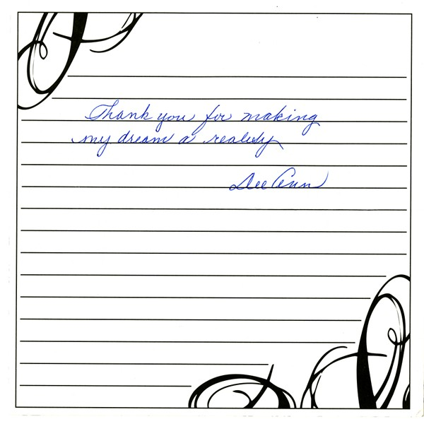 Thank You Note from Dee Ann