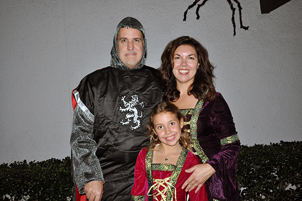 Kate, Michelle and Bob Borson Halloween 2012