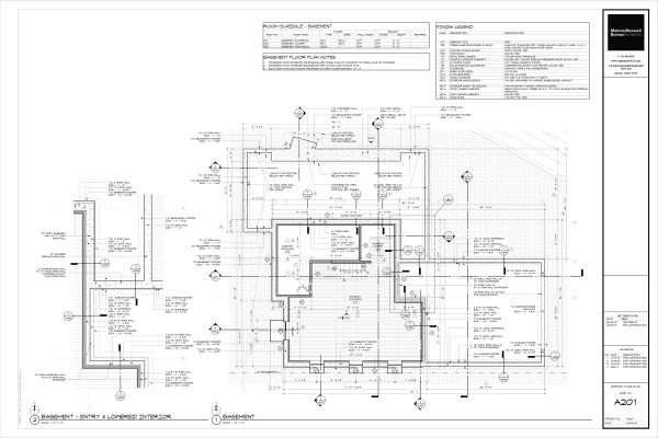 Modern House Drawings Bob Borson A201