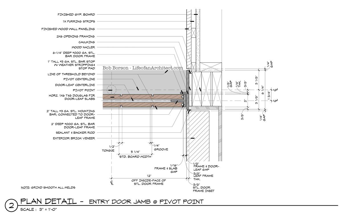 Off Center Pivot Door Jamb Detail Pivot Point