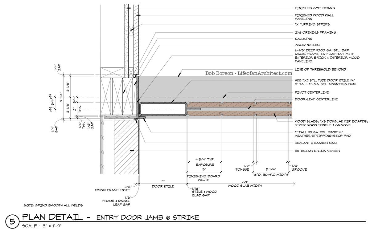 Off Center Pivot Door Jamb Detail Strike