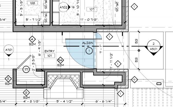 Fancy Off Center Pivot Entry Door plan