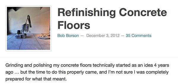Bob Borson- Refinishing Concrete Floors