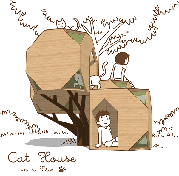 Patricia Ng - Cat House on a Tree