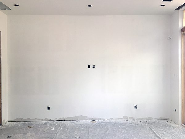 almost finished wall