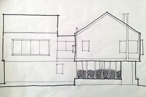 BSB concept sketch Northwest Elevation