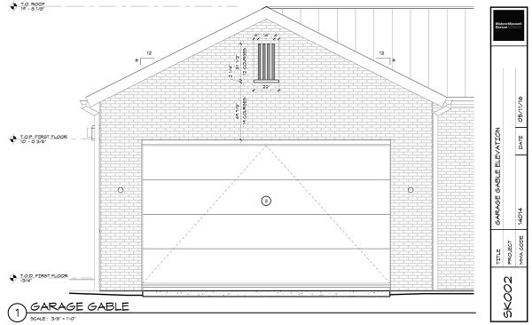 Garage Gable SK002 - Dallas Architect Bob Borson
