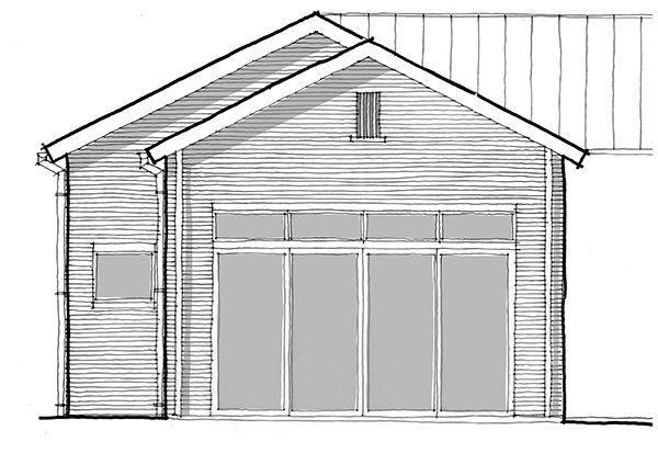 Scale and Proportion Master Gable Vent sketch by Bob Borson