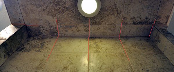 Shower Tile Layout - the wall opposite the showerhead