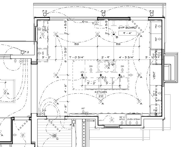 Kitchen Electrical Plumbing plan