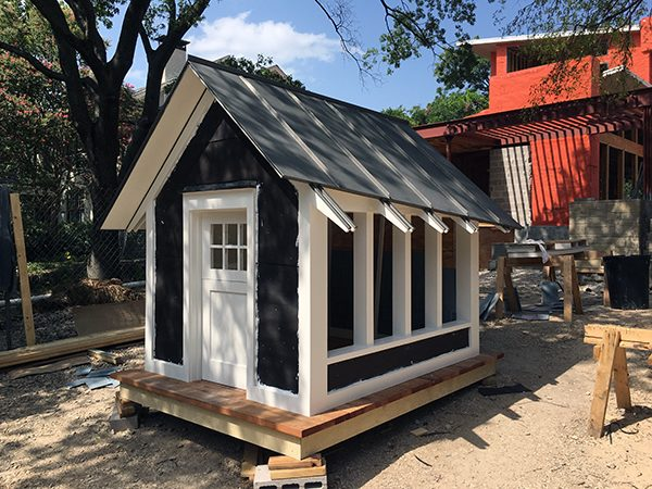 The Cottage House prior to siding installation