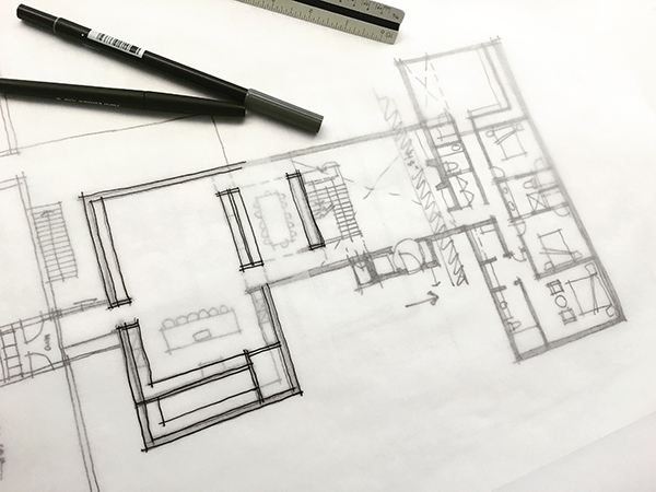 Designing elevations life of an architect for Floor plan sketch