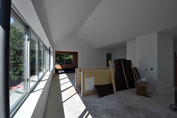 Main living room looking towards upper porch