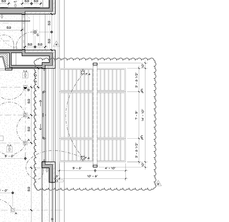 front porch - reflected ceiling plan