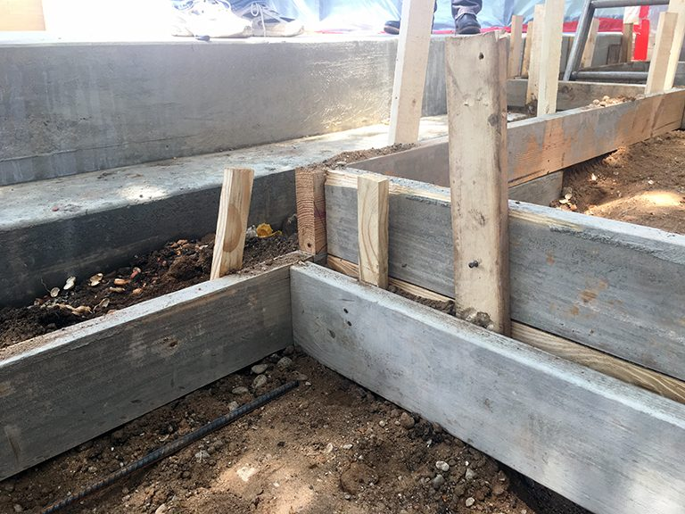 concrete pads formwork