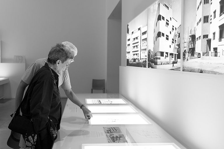 Phyllis Lambert exploring the exhibit with Israel Museum Director James Snyder | photo by Or Kaplan
