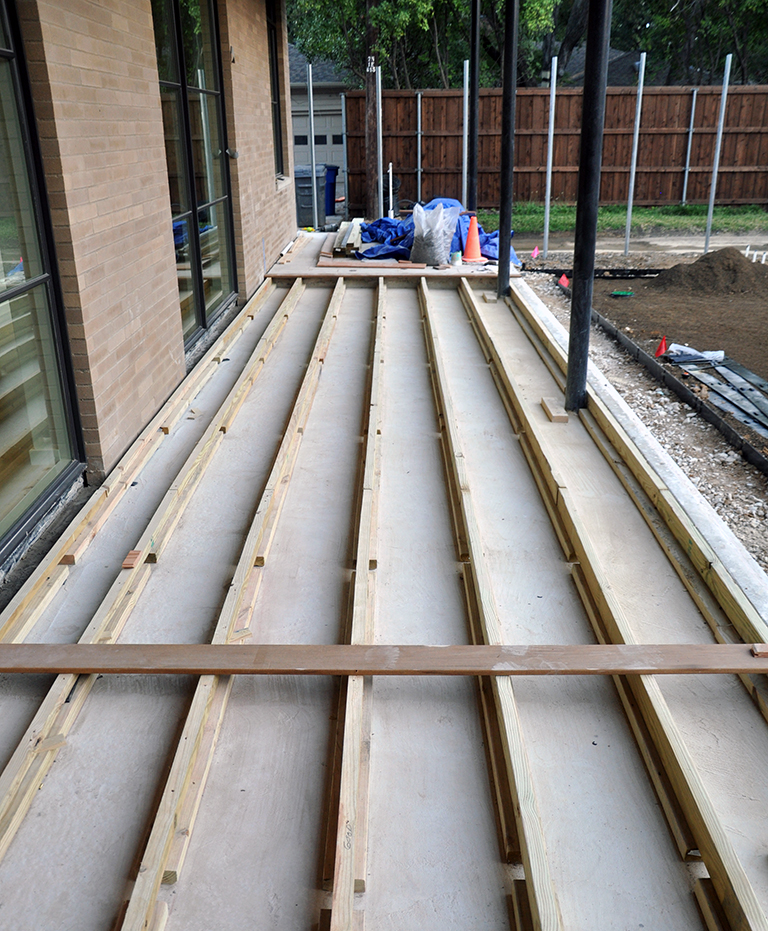 sloping deck joists
