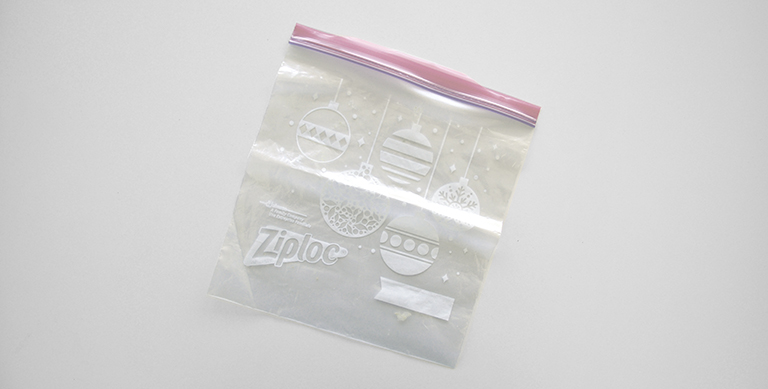 a ziplock bag