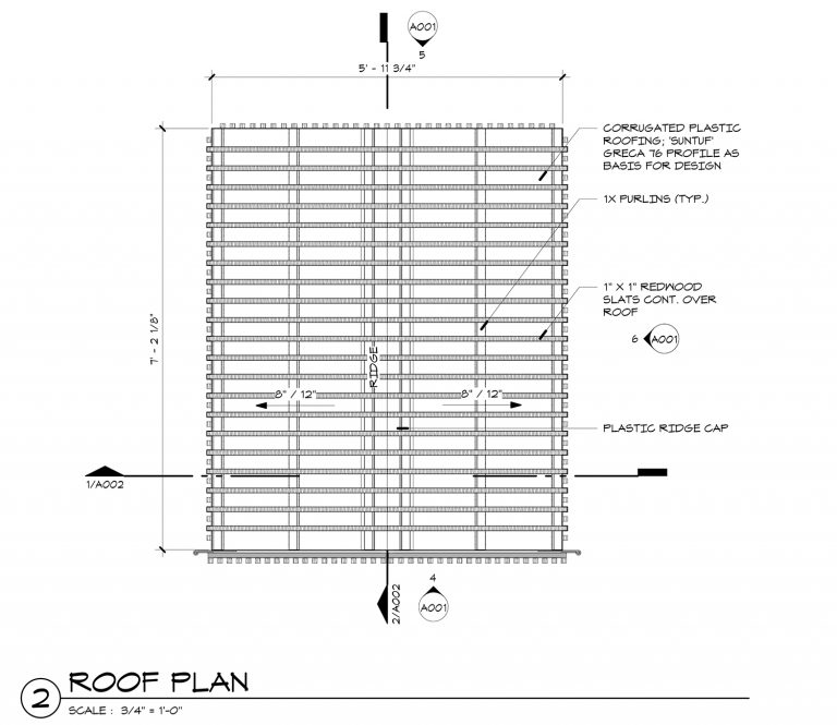 The Grasshopper House - 2 Roof Plan by Dallas Architect Bob Borson FAIA