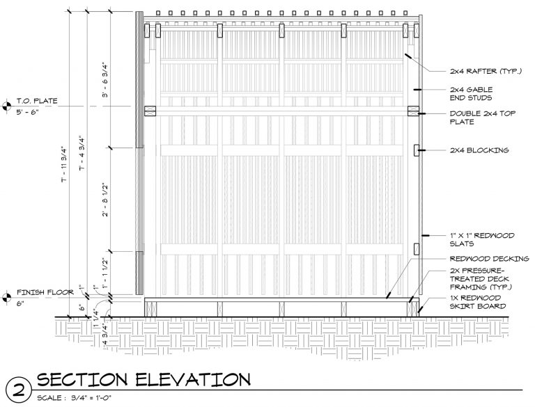 The Grasshopper House - 2 Section Elevation