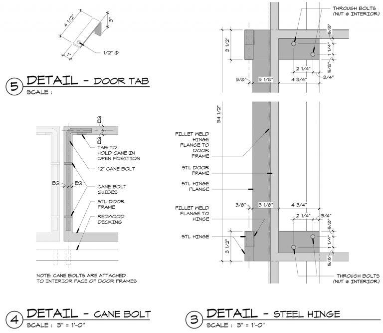 The Grasshopper House - 3,4 and 5 Details by Dallas Architect Bob Borson FAIA