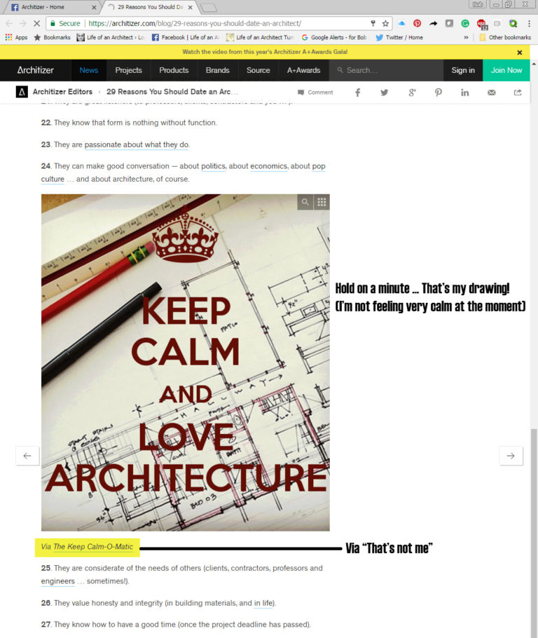 29 Reasons to Date an Architect on Architizer with notes