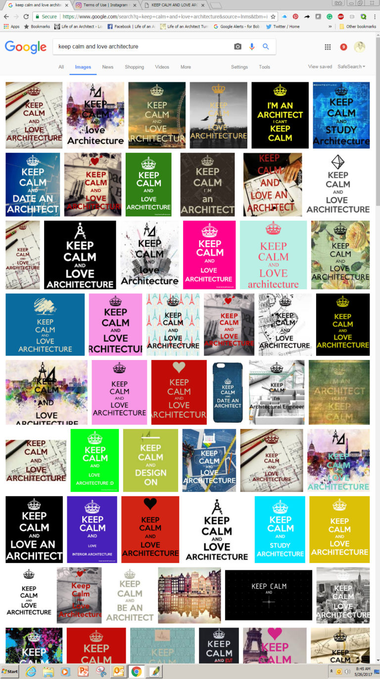 Keep Calm and Love Architecture Image Search