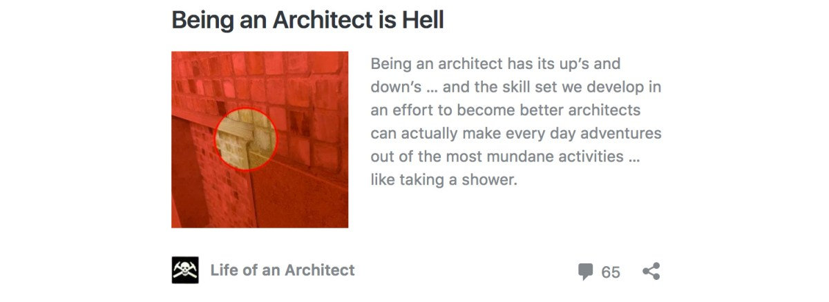 Being an Architect is Hell by Bob Borson