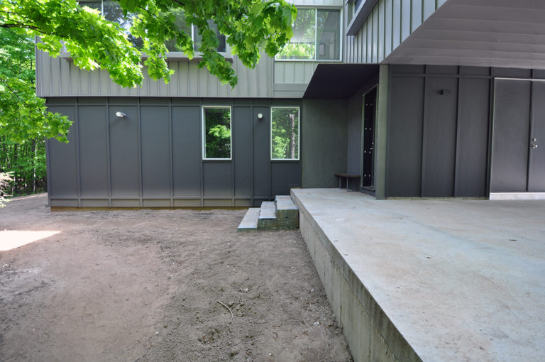 Modern Cabin Front Entry
