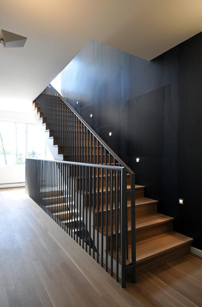 Modern Cabin Stairwell