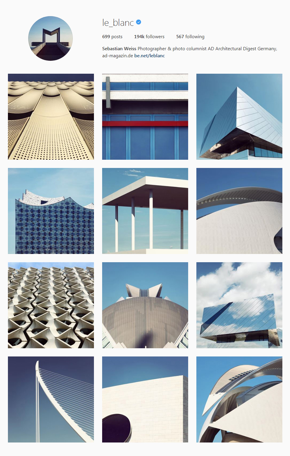 Best Architectural Instagram Feeds of 2017 - le_blanc