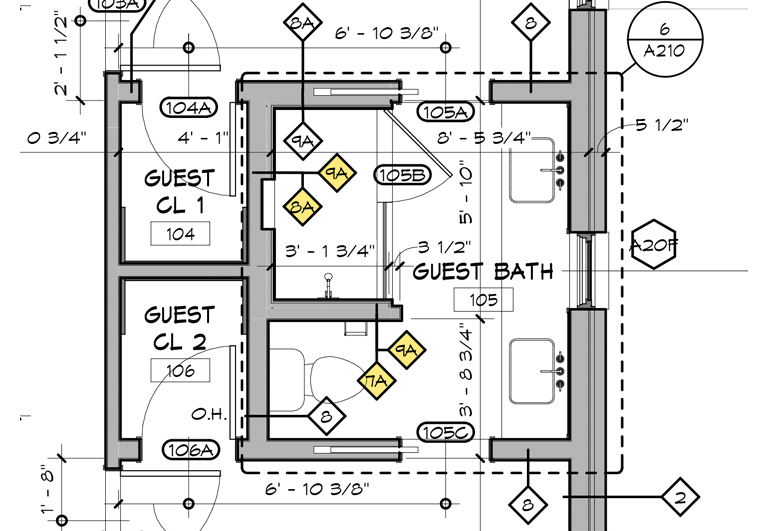 Kitchen Layout Templates 6 Different Designs: Architectural Graphics 101 - Wall Types