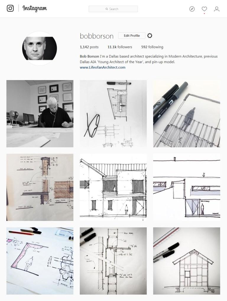 Bob Borson Instagram - Sketching