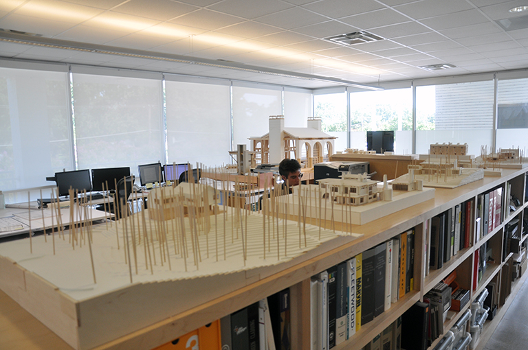 MMB Architects Office full of models