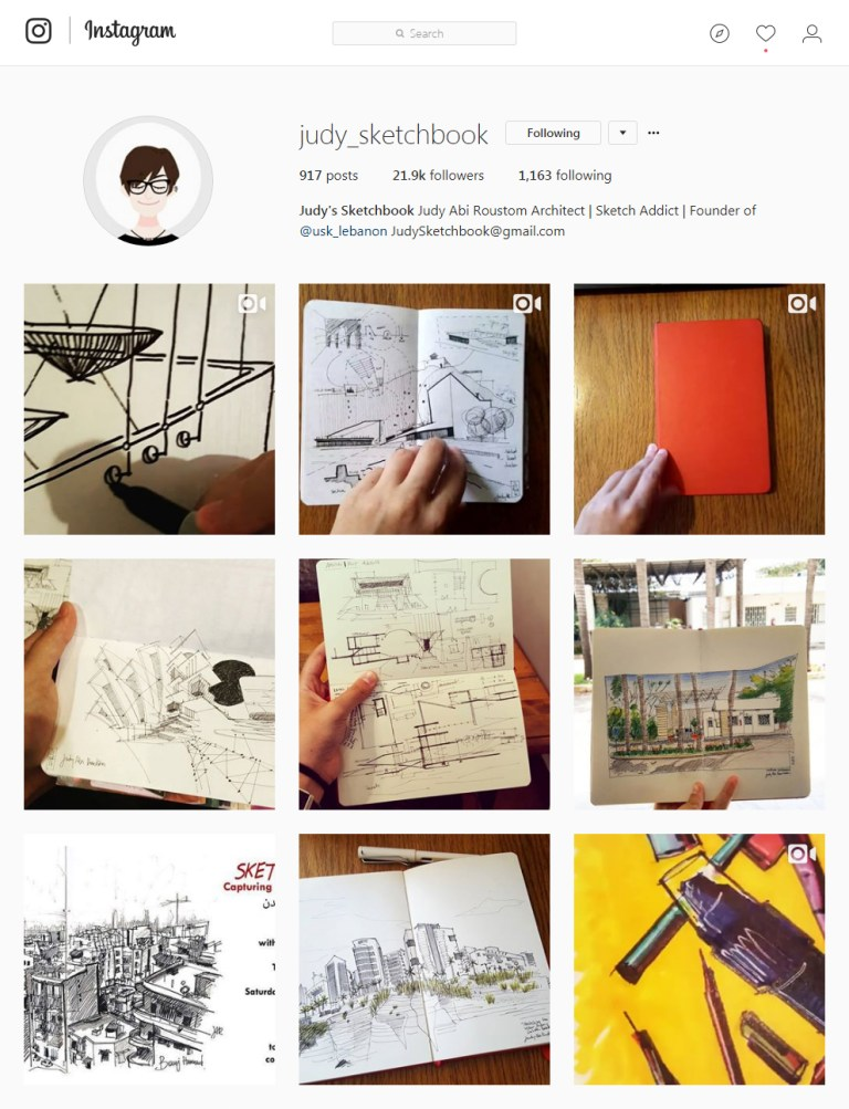 judy_sketchbook Instagram - Sketching