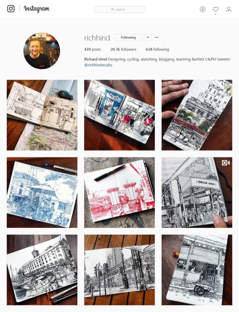 richhind Instagram - Sketching