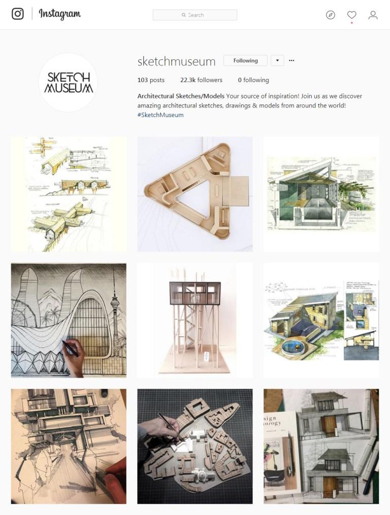 sketchmuseum Instagram - Sketching
